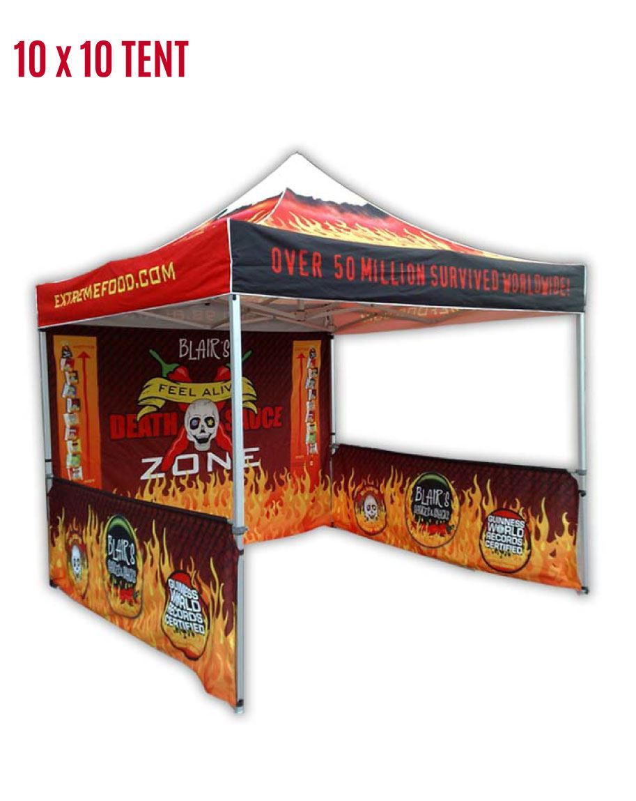 Move In Media Pop Up 10x10 Outdoor Tent